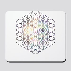 Flower of Life [Blue Star Cluster] Mousepad